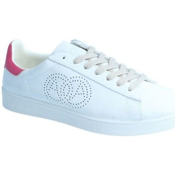 Chaussures Femme Baskets basses Amoa Sneackers MARTITA à lacets BLANC/FUXIA