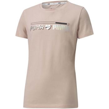 Vêtements Fille T-shirts manches courtes Puma T-shirt Alpha Graph orange