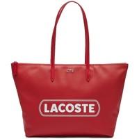 Sacs Femme Sacs porté épaule Lacoste Sac cabas porté épaule  ref_50373 F34 Rouge Rouge
