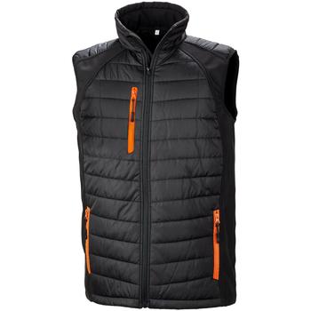 Vêtements Homme Doudounes Result R238X Noir / orange