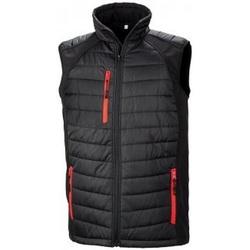 Vêtements Homme Doudounes Result R238X Noir / rouge