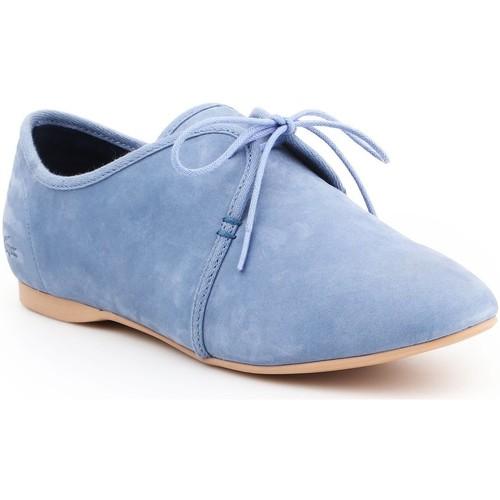 Chaussures Femme Derbies Lacoste Torpel 7-25LEW2008125 niebieski