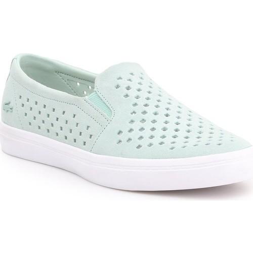 Chaussures Femme Slip ons Lacoste Gazon 7-31CAW01342K8 miętowy