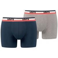 Sous-vêtements Homme Boxers Levi's LOGON Gris