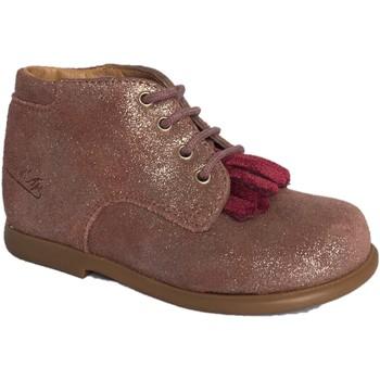 Chaussures Fille Bottines Pom d'Api Nioupi mex rose