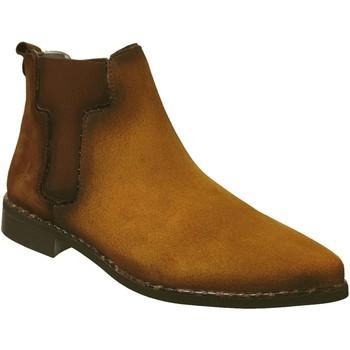 Chaussures Femme Bottines Folies Inca jaune velours