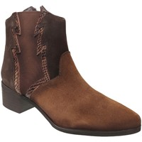 Chaussures Femme Bottines Folies Wost Marron velours
