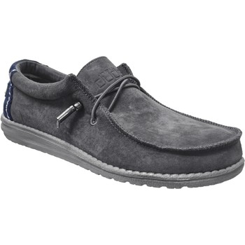 Chaussures Homme Derbies Dude Wally suede Gris velours