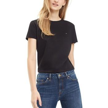 Vêtements Femme T-shirts manches courtes Tommy Hilfiger Tee Shirt Manches Courtes Petit Logo Noir