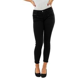 Vêtements Femme Jeans skinny Freeman T.Porter alexa cropped 12 black noir
