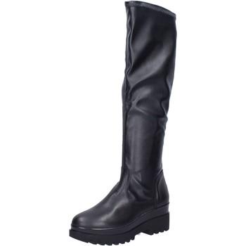 Chaussures Femme Bottes Geste bottes cuir synthétique noir