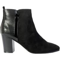 Chaussures Femme Bottines The Divine Factory Bottines Talon Noir