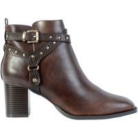 Chaussures Femme Bottines The Divine Factory Bottines Talon QL4036 Marron Foncé
