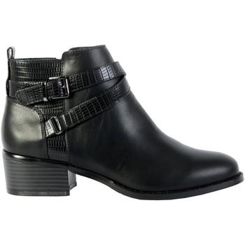 Chaussures Femme Bottines The Divine Factory Bottines Talon QL4039 Noir