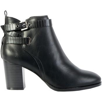 Chaussures Femme Bottines The Divine Factory Bottines Talon QL4032 Noir