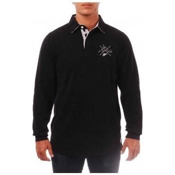 Vêtements Homme Polos manches longues Kamate Polo - Manny - Kamaté Noir