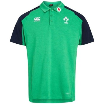 Vêtements Homme Polos manches courtes Canterbury Polo rugby Irlande adulte 2019 Vert