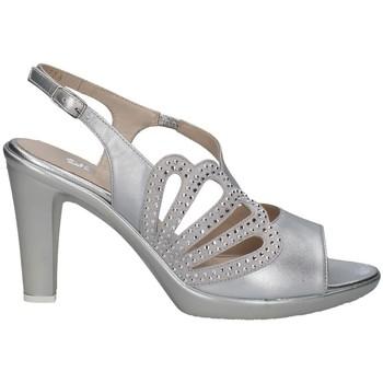 Chaussures Femme Sandales et Nu-pieds Melluso HR50121 Avec talon Femme ARGENT ARGENT