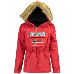 Vêtements Femme Parkas Geographical Norway Parka Femme Bridget Rouge