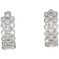Montres & Bijoux Femme Boucles d'oreilles Luna Collection 50050 Argenté