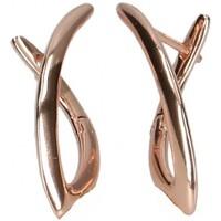 Montres & Bijoux Femme Boucles d'oreilles Luna Collection 45079 Doré