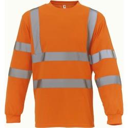 Vêtements T-shirts manches longues Yoko T-Shirt manches longues  Haute Visibilité orange