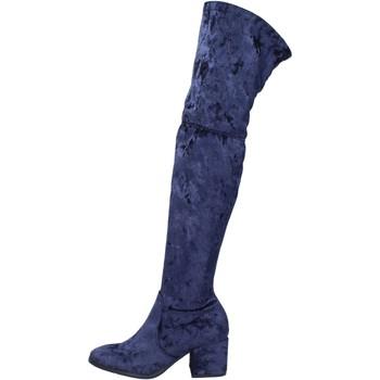 Chaussures Femme Bottes Accademia BK400 bleu