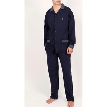 Vêtements Homme Pyjamas / Chemises de nuit Admas For Men Tenue d'intérieur pyjama pantalon chemise Mazarine Admas Bleu Marine