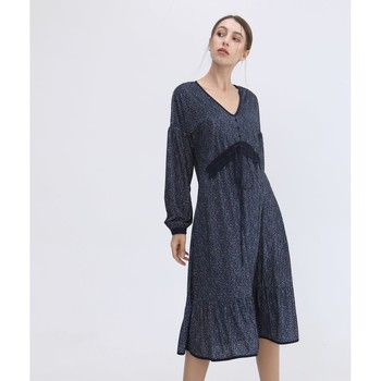 Vêtements Femme Robes longues Smart & Joy Ambre Bleu marine
