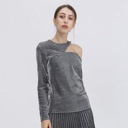 Vêtements Femme T-shirts manches longues Smart & Joy Aventurine Argent