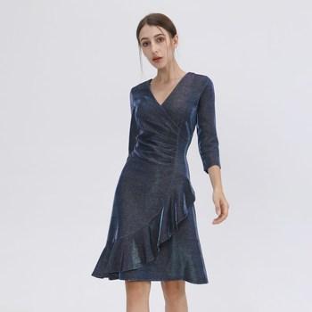 Vêtements Femme Robes courtes Smart & Joy Argent Bleu électrique
