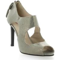 Chaussures Femme Low boots Vidi Studio Boots cuir laminé Argent