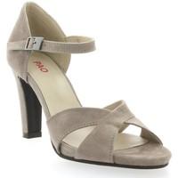 Chaussures Femme Sandales et Nu-pieds Vidi Studio Nu pieds cuir velours Poudré
