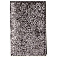 Sacs Femme Porte-Documents / Serviettes Maison Lurex Porte-cartes en cuir vachette brillant Mini irise Argent