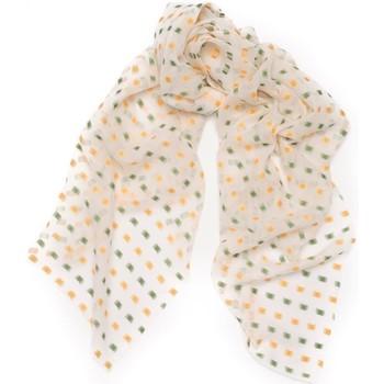 Accessoires textile Femme Echarpes / Etoles / Foulards Maison Lurex Foulard en mousseline de soie et Lurex Fugue Orange