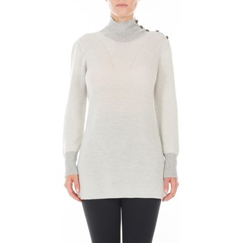 Vêtements Femme Pulls Maison Lurex Tunique Merinos ST GERMAIN Blanc