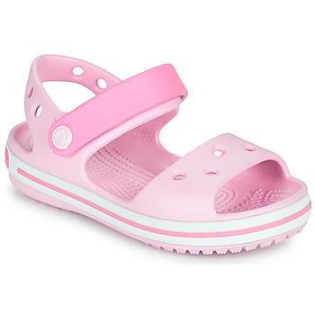 Chaussures Fille Sandales et Nu-pieds Crocs CROCBAND SANDAL KIDS Rose