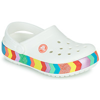 Chaussures Fille Sabots Crocs CROCBAND CHEVRON BEADED CLOG K Blanc / Multicolor