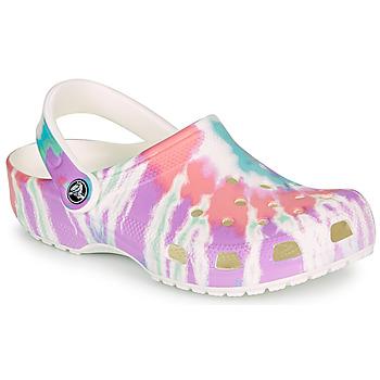 Chaussures Femme Sabots Crocs CLASSIC TIE DYE GRAPHIC CLOG Multicolore