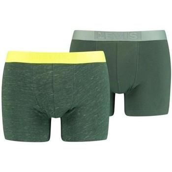 Sous-vêtements Homme Boxers Levi's INJECTED SLUB vert