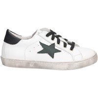 Chaussures Fille Baskets basses Dianetti Made In Italy I9869 blanc noir