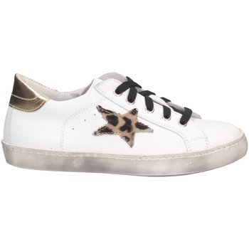 Chaussures Fille Baskets basses Dianetti Made In Italy I9869 Or blanc