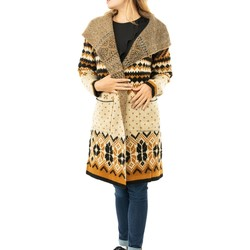 Vêtements Femme Gilets / Cardigans Bsb 044-215004 safron beige