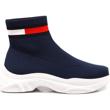 Chaussures Femme Baskets montantes Tommy Hilfiger TOMMY JEANS FLAT SOC blue