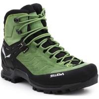 Chaussures Homme Randonnée Salewa MS Mtn Trainer Mid Gtx Noir, Vert