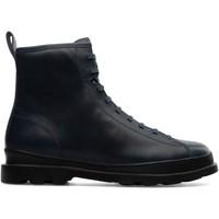 Chaussures Homme Boots Camper Bottines à lacets cuir BRUTUS bleu