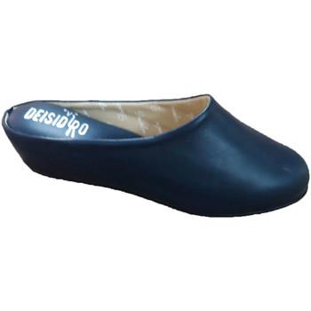 Chaussures Femme Sabots Deisidro Pantoufles en cuir femme ouvertes pour ê azul