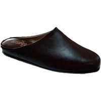 Chaussures Homme Sabots Deisidro Pantoufles en cuir pour hommes ouvertes marrón
