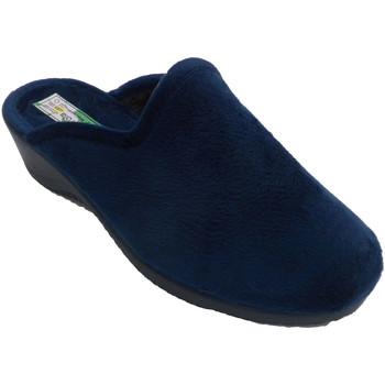 Chaussures Femme Chaussons Made In Spain 1940 Pantoufles femme ouverte par derrière ét azul