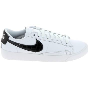 Chaussures Homme Baskets basses Nike Blazer Low Blanc Noir BQ0033-100 Blanc